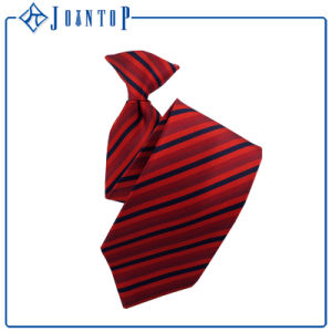 Qem Stripe Skinny Classic Black&Red Custom Clip Tie pictures & photos