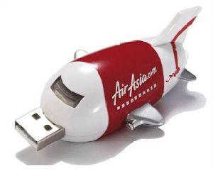 High Quality Plastic Plane Shape USB Flash Disk (OM-P179) pictures & photos