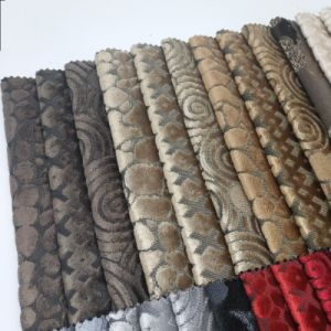 Polyester Woven Textile Sofa Cut Velvet Upholstery Fabric pictures & photos