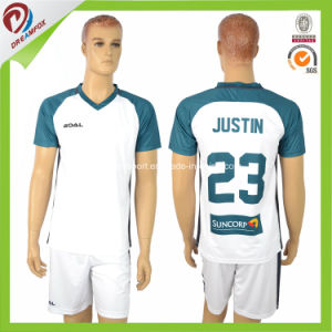 100% Polyester Sublimation Soccer Uniform with Custom Soccer Jerseys pictures & photos