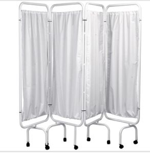 Stainless Steel Mobile Fold Hospital Bed Screen pictures & photos
