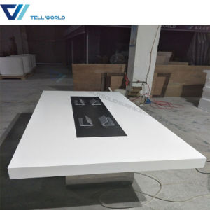 Wholesale Professional Boardroom Table Large Rectanglular Golssy White to Sale Unique Design Conference Table pictures & photos