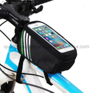 OEM Waterproof Polyester Touch Screen Mobile Phone Bicycle Bike Bag pictures & photos