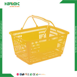 Virgin PP Supermarket Rolling Basket Without Wheels pictures & photos