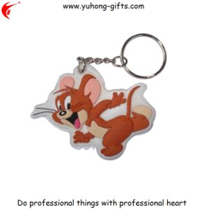 Custom PVC Rubber Soft Key Chain Promotional Gift Free Sample (YH-KC180) pictures & photos