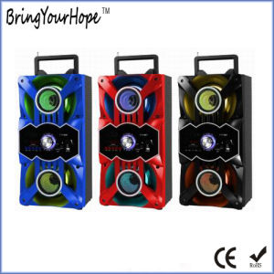 FM Radio Bluetooth Play USB/SD Play Portable Wooden Speaker (XH-PS-723) pictures & photos
