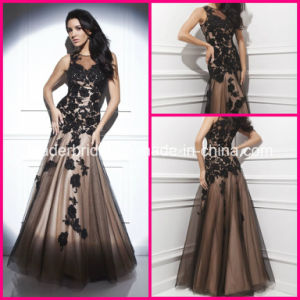 Beads Formal Gowns Black Lace Sequins Evening Dresses T214209 pictures & photos