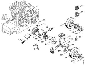 China Stihl Chain Saw Oil Pump And Clutch System MS380 MS381