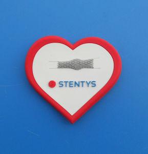 Red Heart Fridge Magnet, Embossed 3D Logo Fridge Magnet pictures & photos