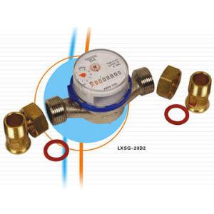 Water Meter 20mm Rotary Vane Wheel Dry-Dial Single-Jet(LXSG-20D)
