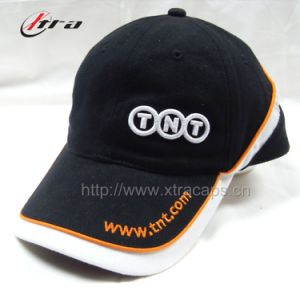 Piping Sports Cap 3D Embroidery Hats pictures & photos