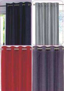 Faux Silk Eyelet Curtain