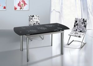 Extension Glass Dining Table (260)
