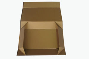 High Quality Golden Colour Paper Foldable Box (YY-B0250) pictures & photos
