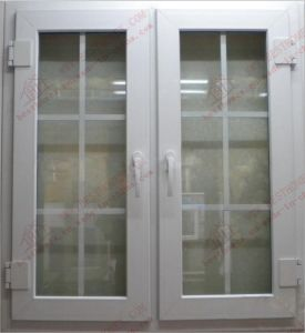 Soundproof PVC Casement Window with Gregorian Bars (BHP-CW10) pictures & photos