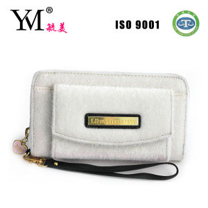 2014 High Quality White Velvet Ladies Purse Wallet pictures & photos