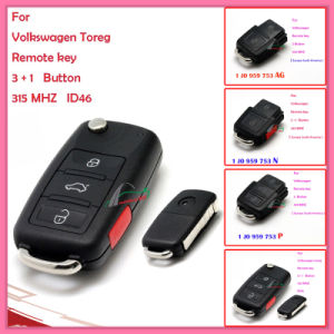 Remote for Auto VW with 2+1 Buttons 1 Jo 959 753 N 433MHz for Europe South America pictures & photos
