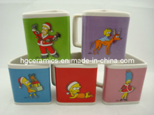 Christmas Pringting Mug, Triangle Mug pictures & photos