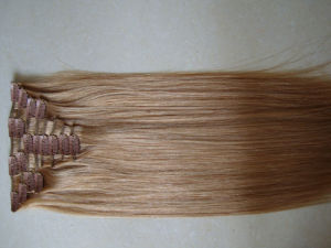 Light Brown Clip on Hair Extension pictures & photos