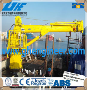 Electric Hydraulic Offshore Pedestal Telescopic Boom Marine Crane pictures & photos