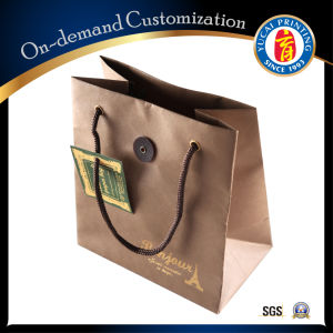 Custom Logo Printing Kraft Paper Bag pictures & photos