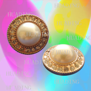 Beautiful Fashion Jeans Button with Pearl and Glass Stones (SK00457) pictures & photos