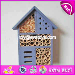 New Products Handmade Bee House Natural Wooden Insect House W06f029 pictures & photos
