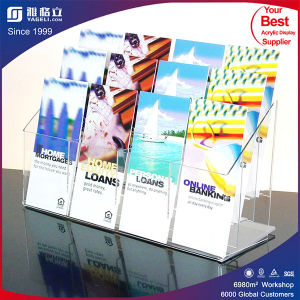 Transparent Plexiglass Acrylic Pocket Brochure Display Holder pictures & photos