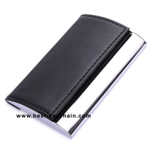 Promotion Metal PU Leather Name Card Holder (BK21544) pictures & photos