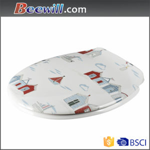 Decorative UV-Resistant, No Color Fade Toilet Seat with Beautiful Pattern pictures & photos