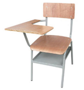 Wooden Metal Mixed Student Armrest Chair