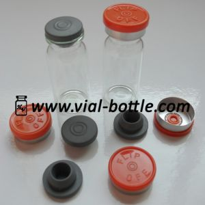 Empty 10ml Glass Bottle, Rubber Stopper and Colored Flip off Tops pictures & photos