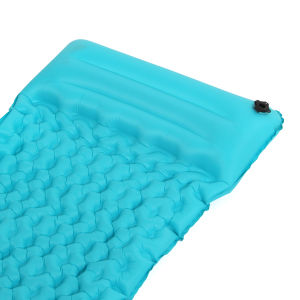 Inflatable Fabric Camping Mattress with Built-in Pillow. pictures & photos