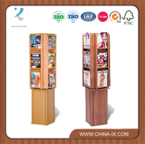 Floor Standing 4 Sided Literature Stand with 24 Adjustable Pockets pictures & photos