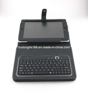 Stylish Detachable Leather Bluetooth Keyboard Case With Stand for iPad2