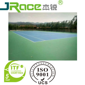 Outdoor Waterproof and Anti Slip Sport Acrylic Tennis Court (Jrace 0002) pictures & photos