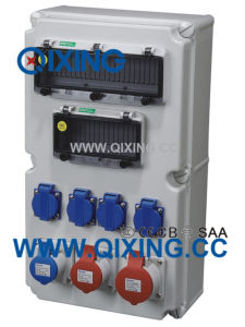 Ice High Quality Plastic Combination Socket Box pictures & photos