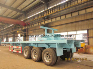 Flatbed Container Semi Trailer pictures & photos
