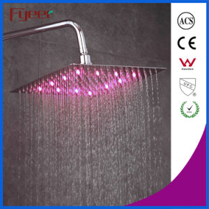 Fyeer Ultraslim 8 Inch Chrome Plated 304 Stainless Steel Shower Head LED Shower pictures & photos