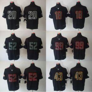 Men′s Impact Limited Black Jerseys