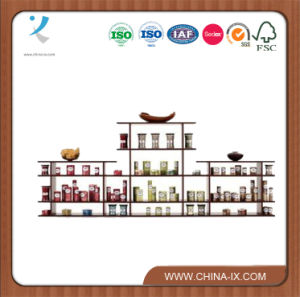 9′ Wide 2 Tier Wood Retail Display pictures & photos