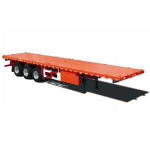 3 Axle 40t Payload Flatbed Container Trailer for 1*40ft Container 1*20ft Container or 2*20ft Container pictures & photos