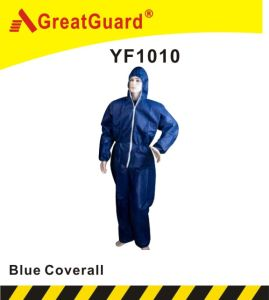 Disposable PP Blue Color Overall (CVA1010) pictures & photos