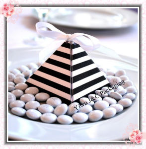 Hot Stripes Pyramid Wedding Favor Boxes/Candy Boxes (JCO-392B)