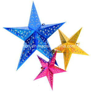 Festival Wedding RGB LED Light Star Paper Lanterns for Wedding pictures & photos