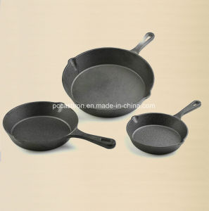 Pre-Seasoning Cast Iron Skillet Set 16cm, 20cm, 26cm Cusomized pictures & photos