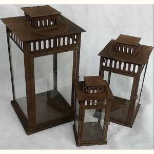 Antique Square Tin Indoor&Outdoor Garden Metal Lantern pictures & photos