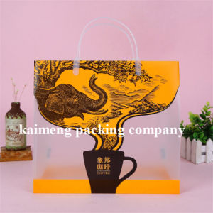 Luxury Design Printing PVC Plastic Coffee Bags Package with Handle (coffee package bag) pictures & photos