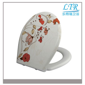 High Quality Specialized Toilet Seat with Flower Pattern pictures & photos