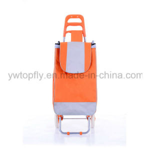 2 Wheel Smart Metal Supermarket Bag Hand Shopping Trolley Cart pictures & photos